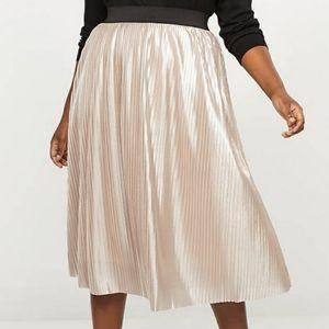 Lane Bryant Shimmer Pleated Midi Skirt  Sz. 18/20